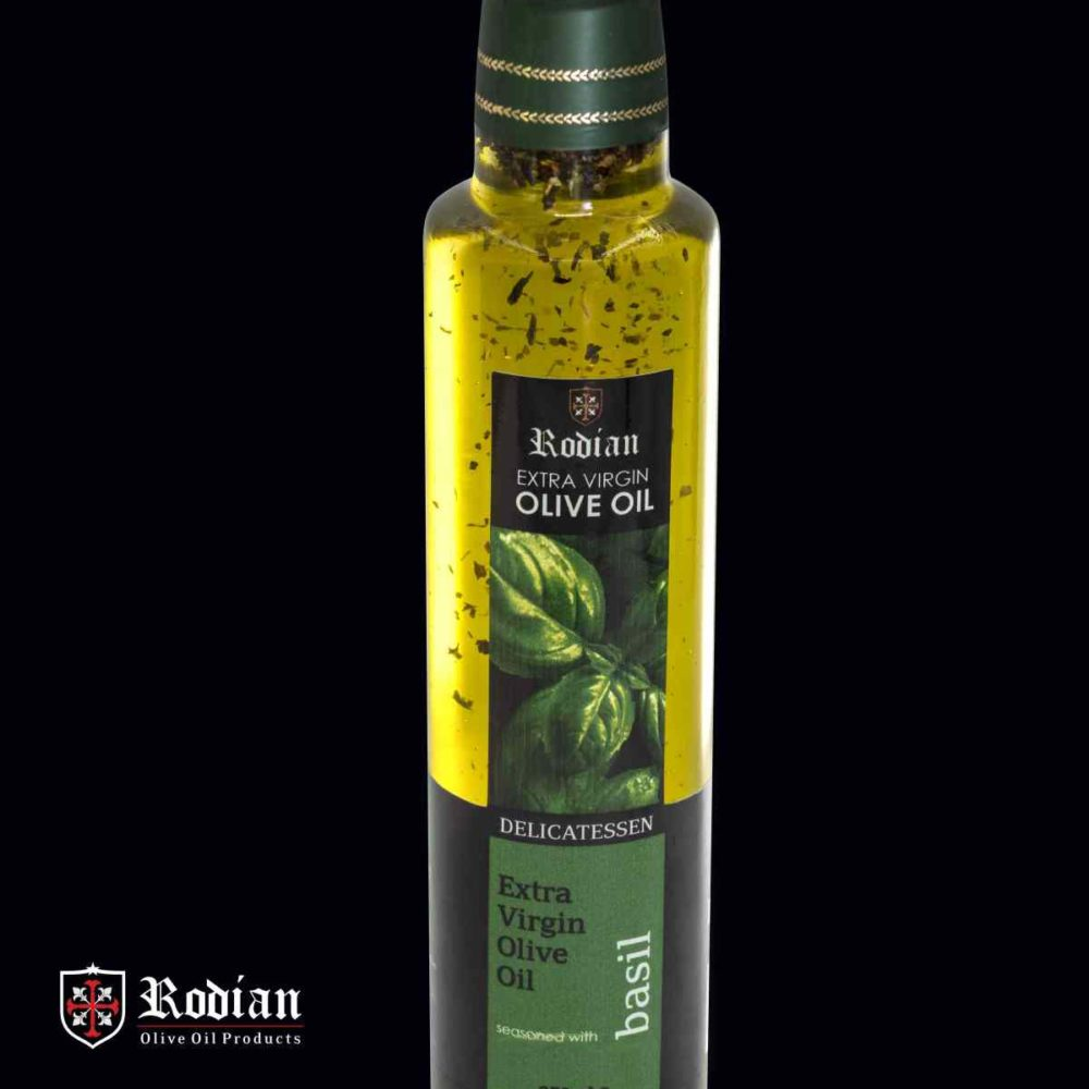 DELI basil olive oil 250 ml black