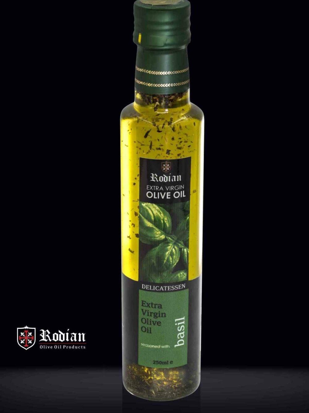 DELI basil olive oil 250 ml black