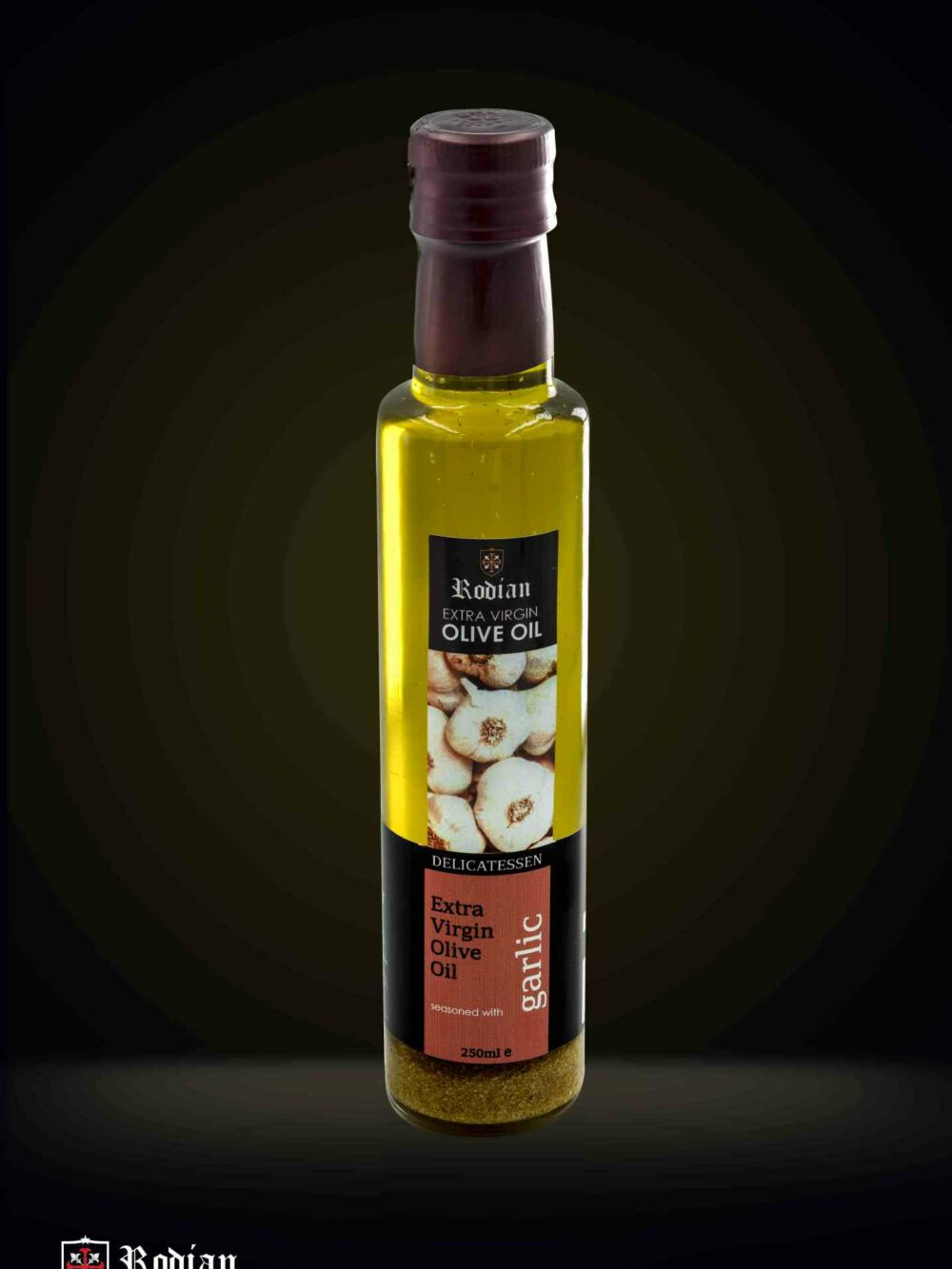DELI garlic olive oil black 250ml