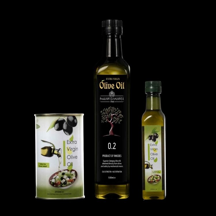 Greek EXTRA VIRGIN Olive Oil from Rhodes island